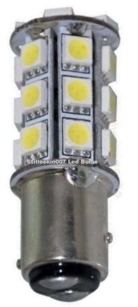 1157 27 LED water marked(1) bay15d, 1157, 2057, 12 volt replacement bulb, dual filament  at readyjetset.co