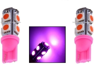 9 SMD - Miniature Wedge Retrofit - Pink / Purple