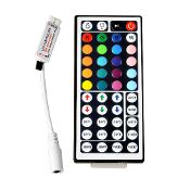 44-Key Infrared Remote with Mini Receiver