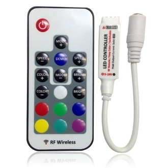 17 Key RF Mini Remote Controller for RGB/ Multi-color LED Strips