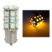 1156 - BA15S - 27 LED  Amber/Yellow (1141, 1156, 2056)